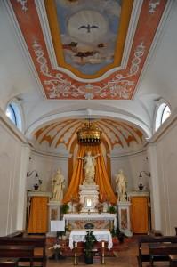Notranjost cerkve sv. Roka