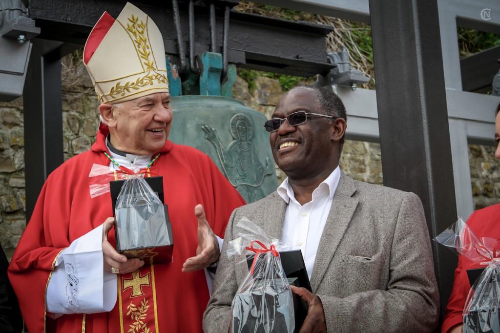 Škof Jurij Bizjak in župan Peter Bossman